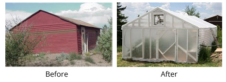 Barn to Greenhouse Conversion Using Our Plastic Poly