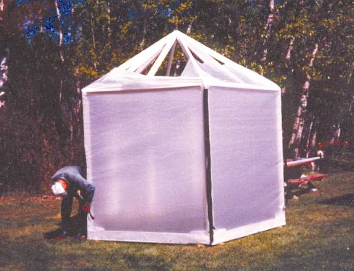 Five-Sided Greenhouse Using Our Plastic Poly